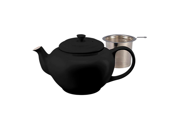 Classic Teapot w/ Stainless Steel Infuser  - Satin Black
