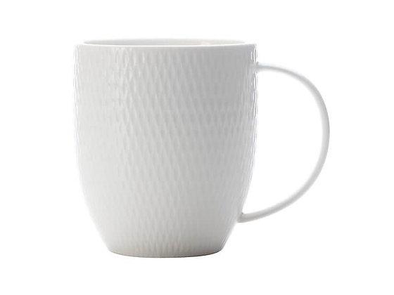 White Basics Diamonds Coupe Mug 370ML
