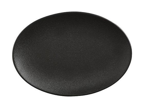 Caviar Black Oval Plate 35x25cm