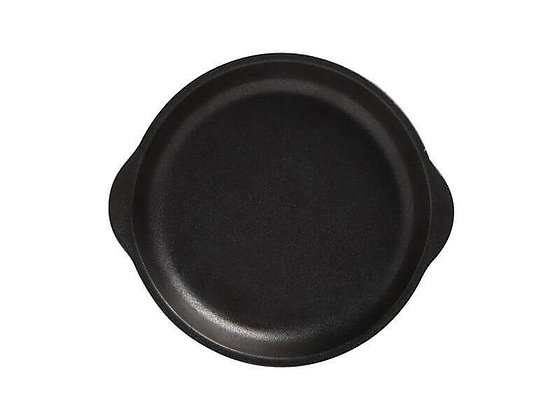 Caviar Black Plate with Handle 20x22.5cm