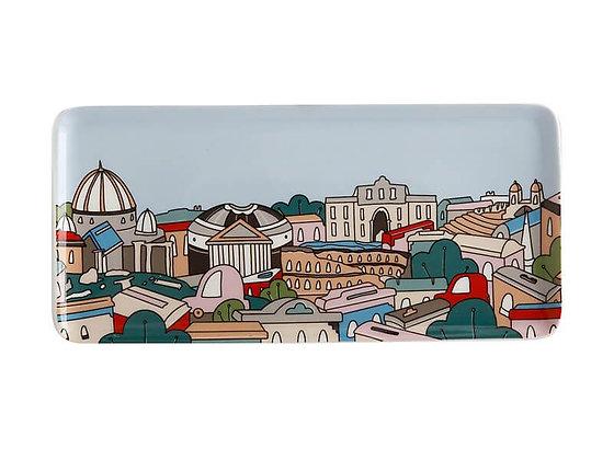 Megan McKean Cities Rectangular Plate 25x12cm Rome Gift Boxed