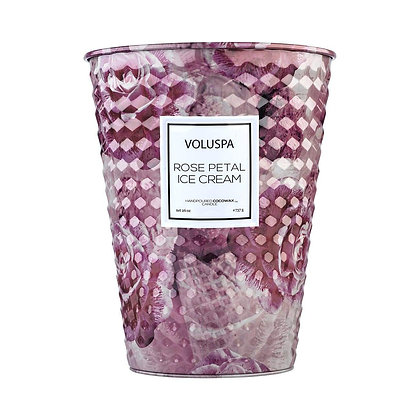 Rose Petal Ice Cream 2 Wick Table Candle