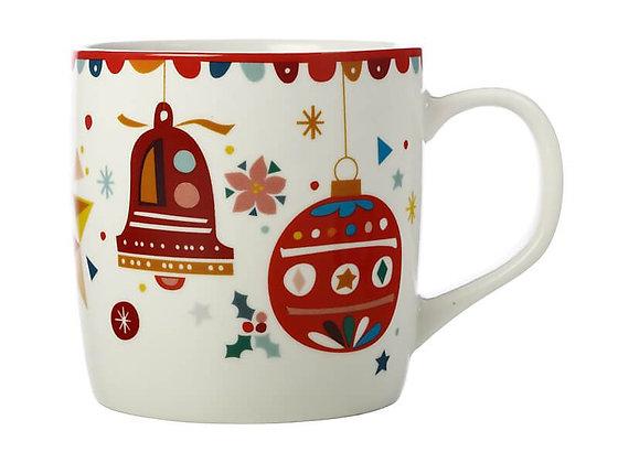 Festive Friends Mug 375ML Bells Gift Boxed