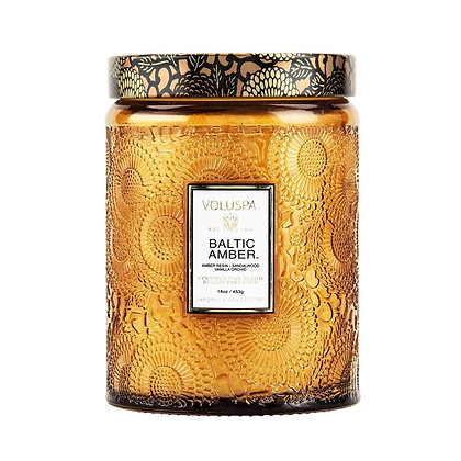 Baltic Amber Coloured Candle