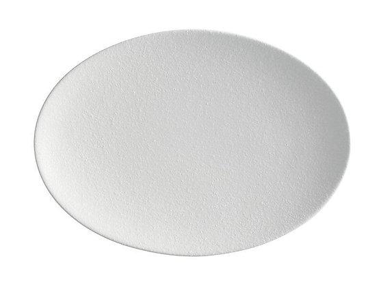 Caviar White Oval Plate 30x22cm
