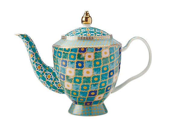 Teas & C's Kasbah Teapot with Infuser 1L Mint Gift Boxed