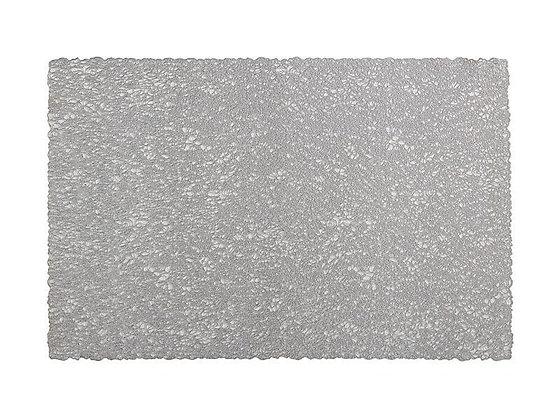 Glitz PVC Placemat 45x30cm Silver
