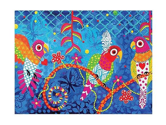 Love Hearts Tea Towel 50x70cm  Rainbow Girls