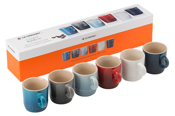 Espresso Mug Set of 6 - Coastal