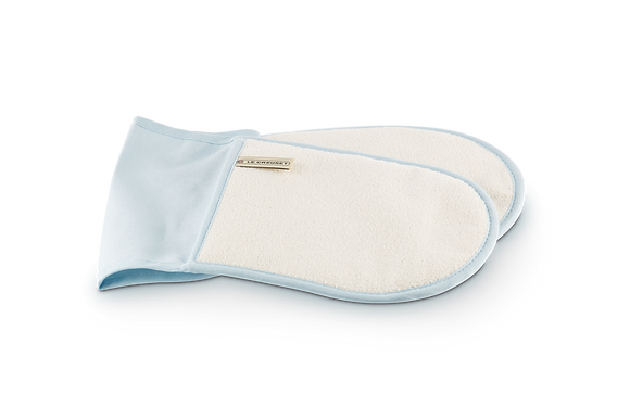 Double Oven Glove  - Coastal Blue