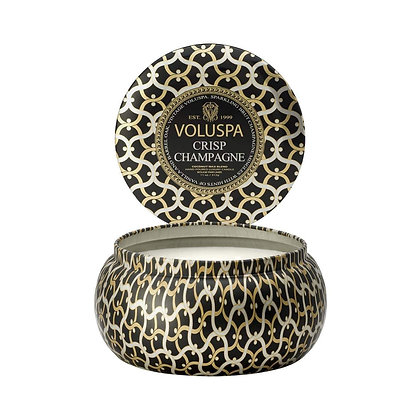 Crisp Champagne 2 Wick Candle Tin