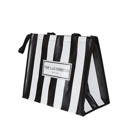 Black & White Striped Shopper