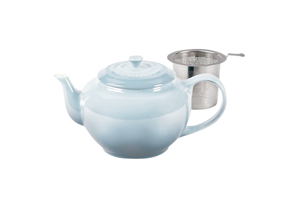 Classic Teapot w/ Stainless Steel Infuser  - Coastal Blue