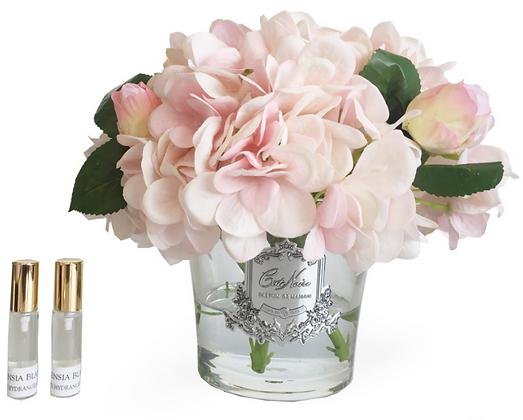 Hydrangeas & Rosebuds Blush