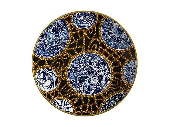 Greg Irvine Plate 20cm Batik Toile