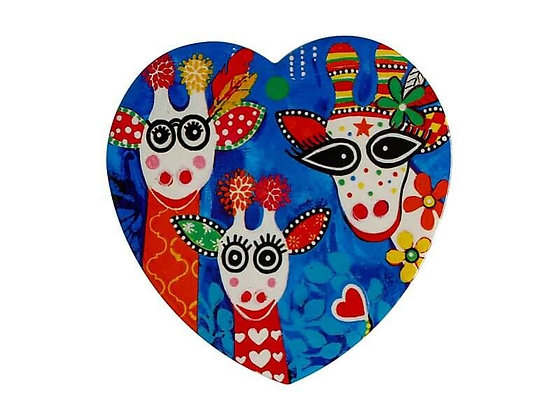 Love Hearts Ceramic Heart Coaster 10cm Mr Gee Fam