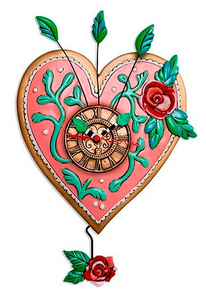 LOVE Blooms Clock