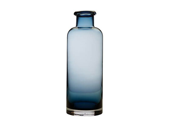 Flourish Bottle Vase 34cm Blue