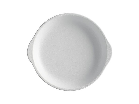 Caviar White Plate with Handle 20x22.5cm