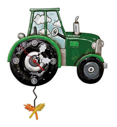 green TRACTOR time clock