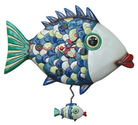 FISHY LIPS clock