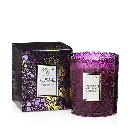 Santal Vanille Scalloped Candle
