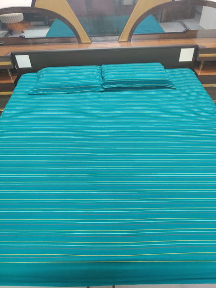 Manipuri Cotton Handloom Bedsheet Set