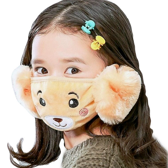 Kids Face Mask With Ear Warmer