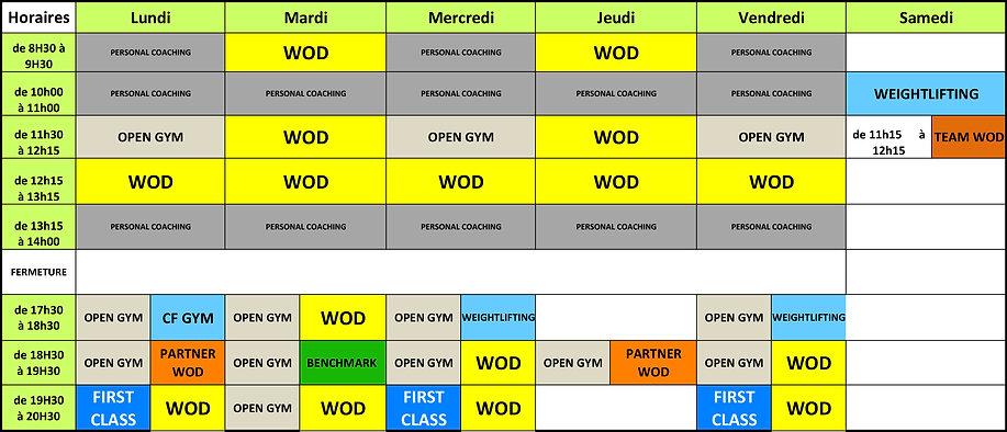 CrossFit Phocéa PLANNING 2019 Marseille