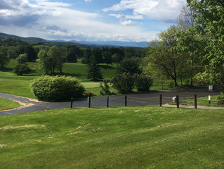 View of the Catskills from Dinsmore Golf Course