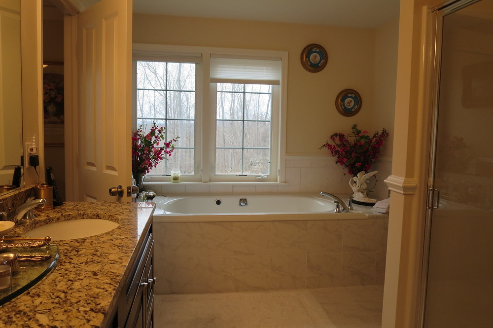 Custom Bathroom with views of Hudson River