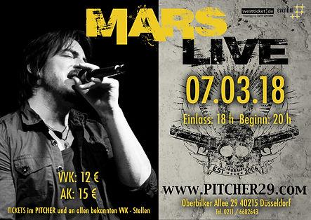 Mars LIVE im Pitcher