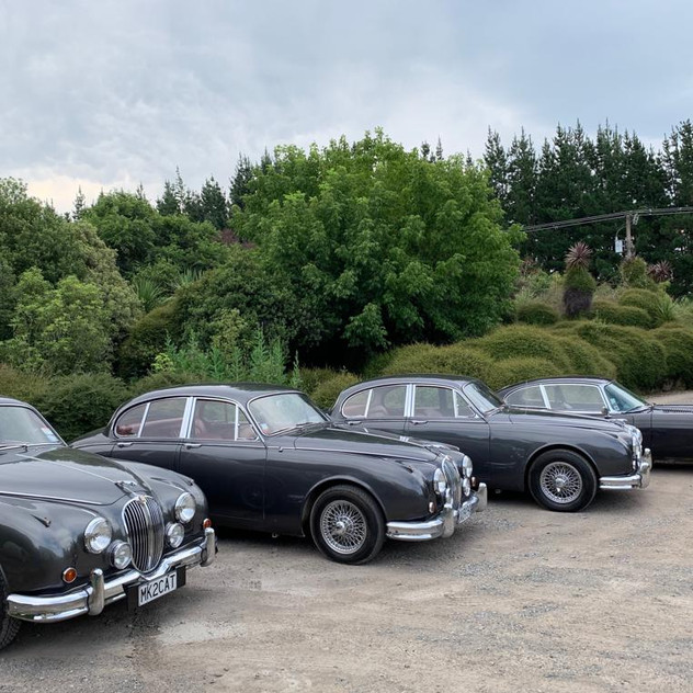 Jaguar Mark II and Jaguar E-Type Wedding