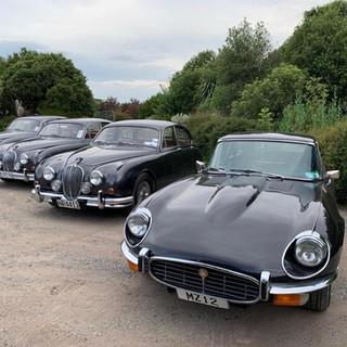 Jaguar Mark II and Jaguar E-Type Wedding