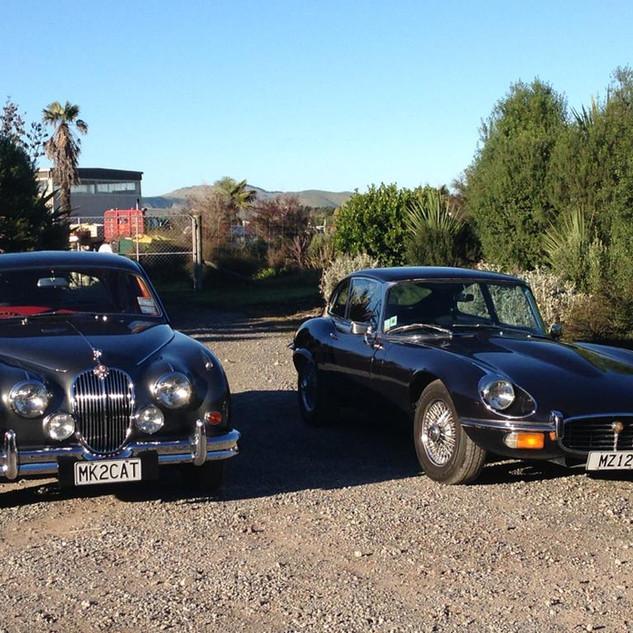 Jaguar Mark II and Jaguar E-Type 3.jpg