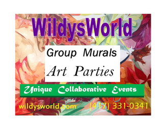 WildysWorld paints a PARTY to remember! COLLABORATIVE MURAL Friday, MARCH 11 5-10pm at Orr Street St