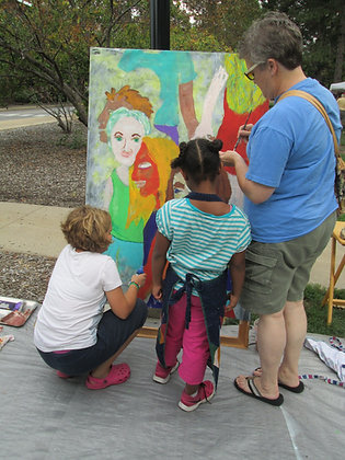 GROUP Event/Party MURAL -Small- 4'x8' canvas