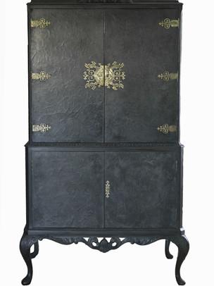 Blue Black Cabinet