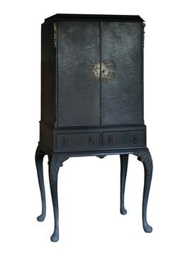 Small Blue Black Cabinet