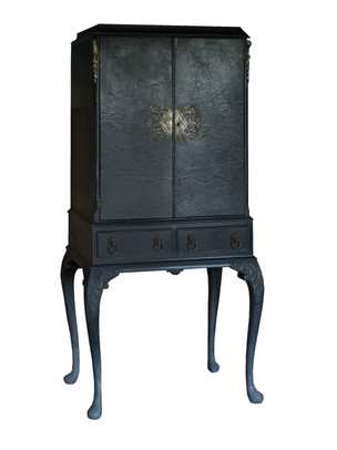 Small Blue Black Cabinet