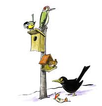 L'hiver, les oiseaux, les mangeoires