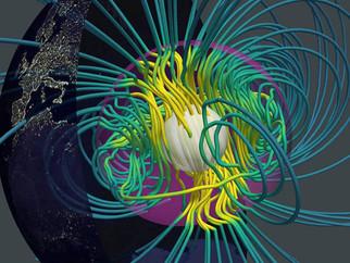 Vídeo hipnotizante mostra de onde vem o campo magnético da Terra