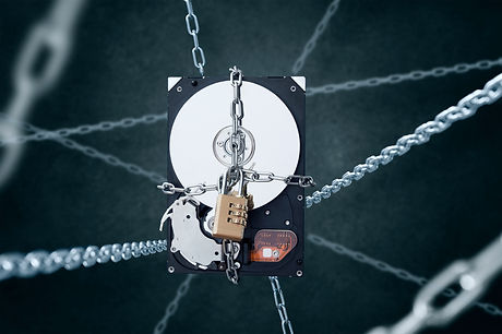 Chained hard disc drive with combination