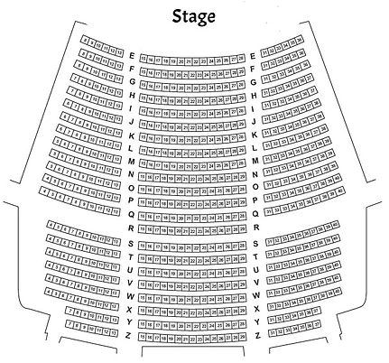 Chrysler Theatre Main floor seating chart