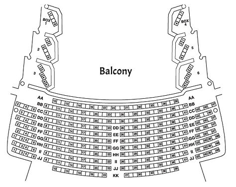 Chrysler Theatre Balcony seating chart