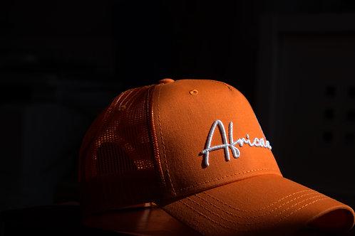 Boné laranja africano com malha