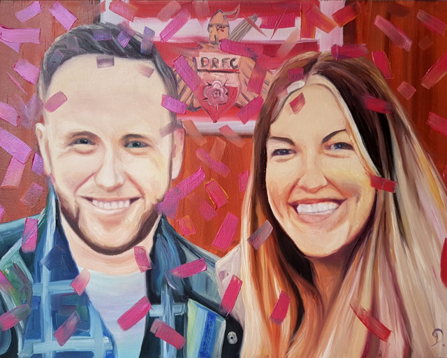 Large A2 double portrait commission time lapse. Music by Angus Macaughton