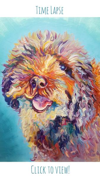 Time lapse of an A2 pet portrait commission