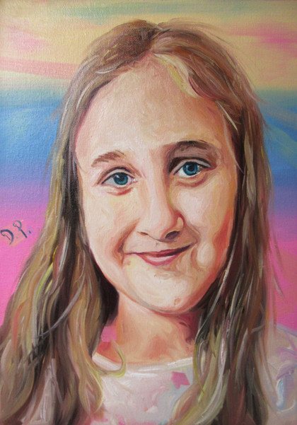 Colourful A3 oil on canvas