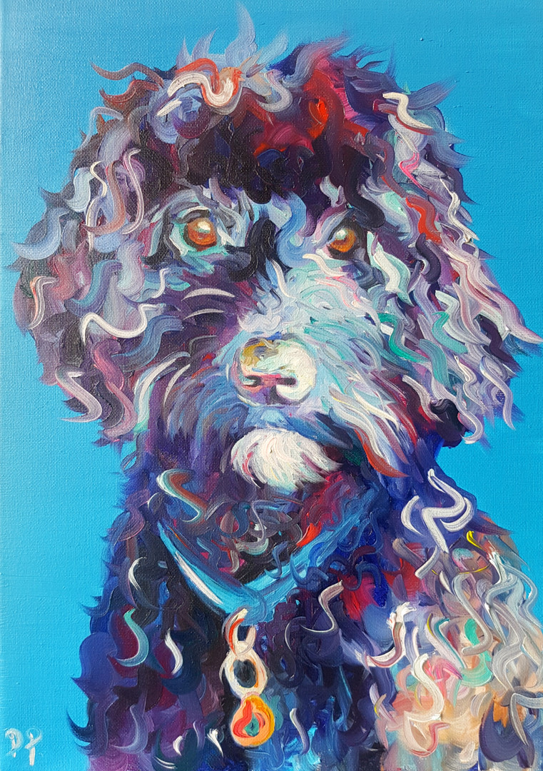 Impressionist A3 Oil on Canvas Pet Portr